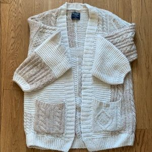 Abercrombie & Fitch Patchwork Cardigan Size Small